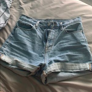 Mom high rise jean shorts NEW